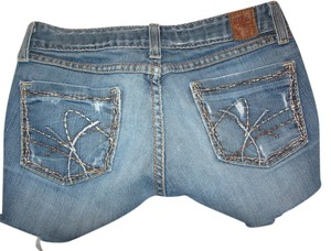 BKE Cut Off Shorts blue denim