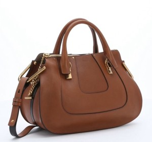 Chloé Chloe Hayley Hayley Satchel Chloe Convertible Hayley Chestnut Chloe Brown Tote in Tan