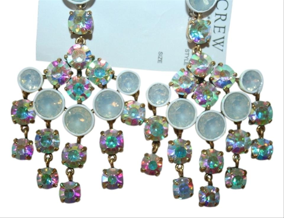 J Crew Crystal Chandelier Earrings White