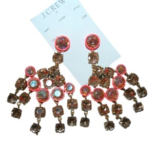 J.Crew J.CREW CRYSTAL CHANDELIER EARRINGS BELVEDERE RED