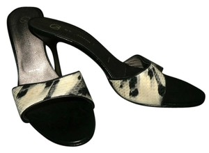St. John Black White Sandals