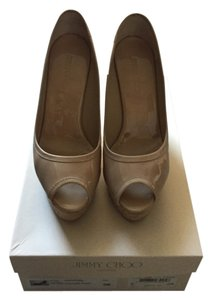 Jimmy Choo Beige Cute Nude Wedges