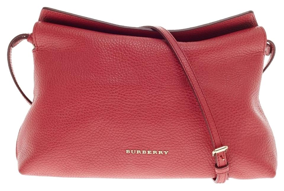 6913042b59ed Burberry Leah Pebbled Small Pink Leather Cross Body Bag - Tradesy