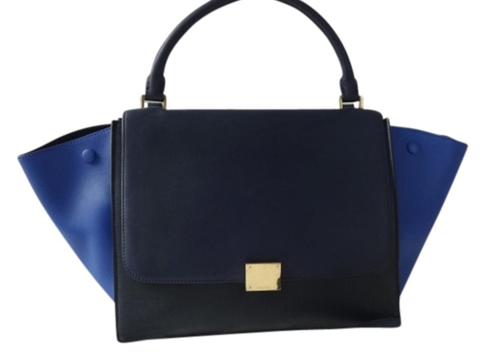 679488556478 Céline Trapeze Tri-color Long Strap Excellent Condition Navy Black ...