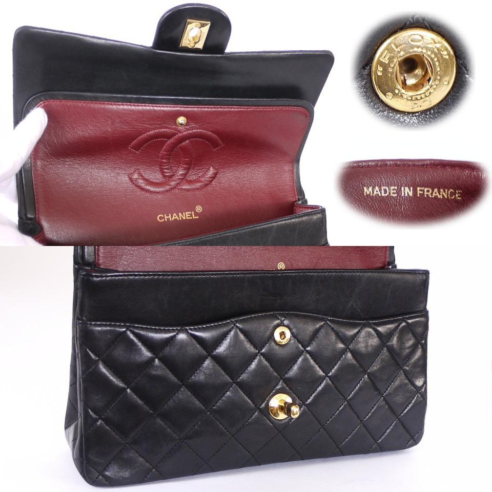 976e8d98f013 Chanel Vintage Classic 2.55 Double Flap Chain Chic Shoulder Bag Image 7.  12345678