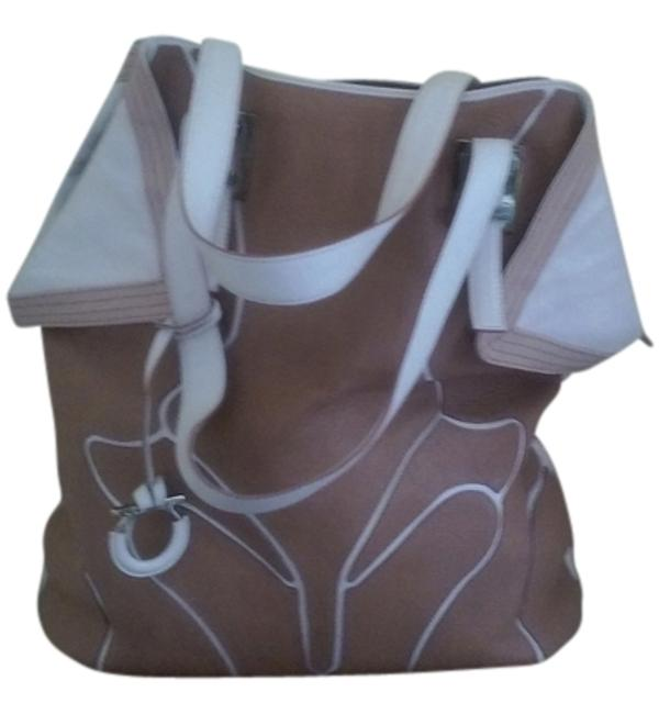 Item - Brown and Pink Leather Tote