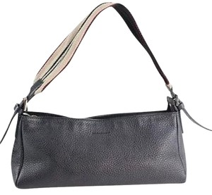 Burberry Leather Purses Satchel in Black