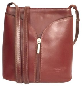Vera Pelle Leather Vintage Handbag Cross Body Bag