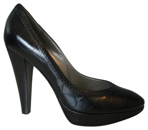 Pollini Black Leather Platforms