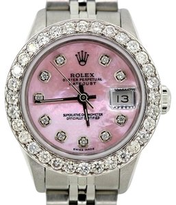 Rolex LADIES ROLEX DATEJUST DIAMOND WATCH WITH ROLEX BOX & APPRAISAL