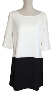 Francesca's short dress Black and Creme Block Shift with Back Drama on Tradesy
