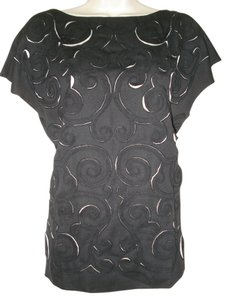 Catherine Malandrino Top Black with Pearl Lining