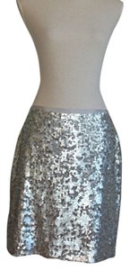 J.Crew Holiday Skirt Silver Sequin