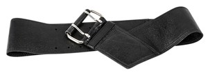 Neiman Marcus * Neiman Marcus By Streets Ahead Black Leather Waist Belt 46400