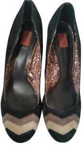 Missoni Suede Flat Black Pumps