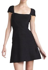Hervé Leger Bodycon Cap-sleeve A-line Dress