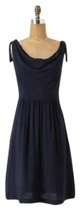 Anthropologie short dress navy blue Maeve Size 2 Comfortable on Tradesy