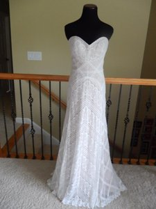 Wtoo Nude/Ivory Polyester Modern Wedding Dress Size 12 (L)