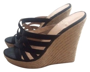 Colin Stuart Sandals High Heels Victoria's Secret Black Wedges