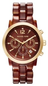 Michael Kors Chronograph Audrina Amber Tortoise Watch 41mm