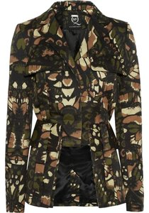 MCQ by Alexander McQueen Butterfly Jacket Coat Green Multi Blazer