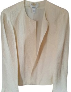 Talbots Silk Jacket Linen Cream Blazer