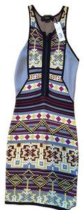 Cut25 short dress Multi Bodycon Print on Tradesy