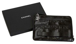 Chanel Limited Edition Rare Runway Black Clutch