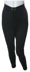 Michael Kors Black Leggings Stretch Riding Skinny Pants Black, Gold
