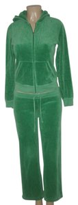 Juicy Couture Juicy Couture Green Velour Hoodie Pants Set Size S Pants M Hoodie