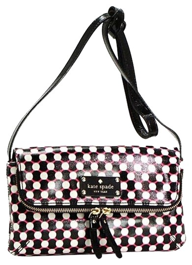 Kate Spade Coated Canvas Leather Trim Cross Body Bag