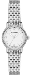 Burberry Burberry BU7856 The Utilitarian Swiss White Dial Silver Watch NEW $595