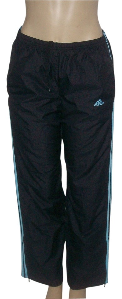 2500c3cc7cb4 adidas Black Polyester Perforated Lining Pants Size 8 (M