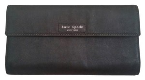 Kate Spade Kate spade nylon black checkbook wallet