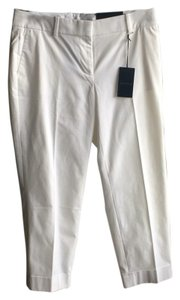 Ann Taylor Capri/Cropped Pants White