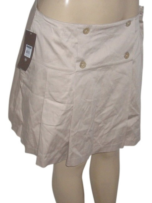 Item - Oxford Tan Sailor Pleated Shorts Size 14 (L, 34)