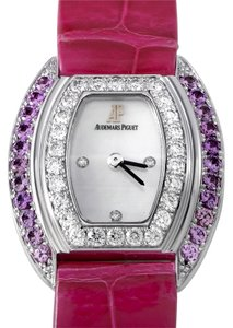 Audemars Piguet Audemars Piguet Ladies Wristwatch 67528BC.ZF.A066LZ.01 White Gold Crocodile Diamond Gemstone