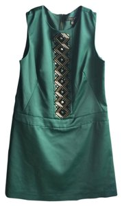 Cynthia Steffe Beading Emerald Drop Waist Dress