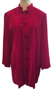 Saks Fifth Avenue Top Red Velveteen