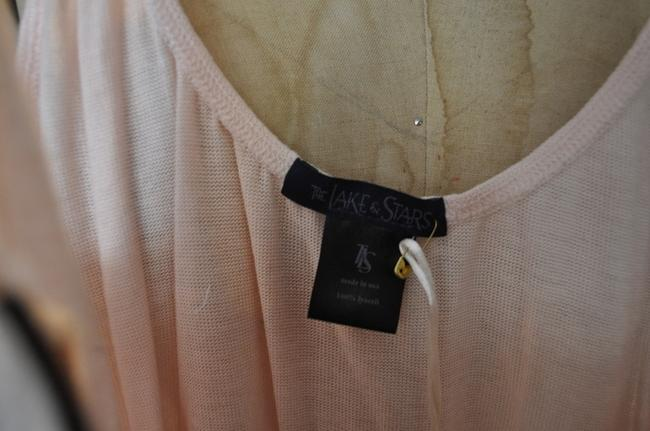 The Lakes & Stars Knit Silk Camisole Top Multi - pale pink, black, champagne