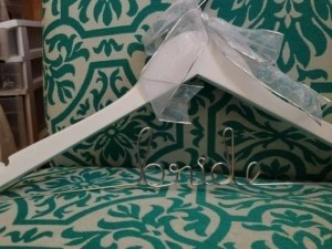 Bride Hanger with White Wood