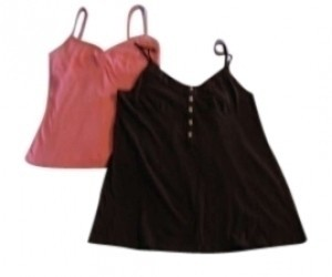 Gap Top Brown/Pink