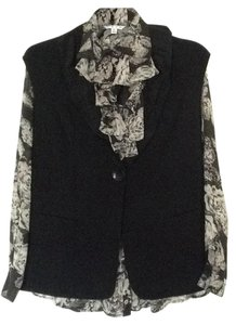 CAbi Ruffle Casual Evening Fully Lined Vest