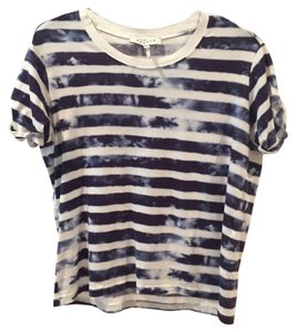 Sandro T Shirt Blue and White