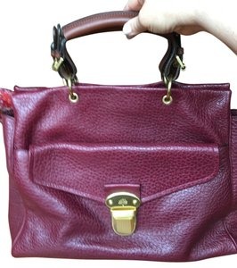 Mulberry Luxurious Leather Tote in Deep burgundy