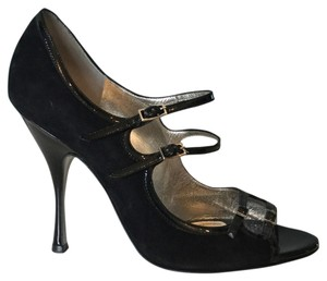 Dolce&Gabbana Black Suede and Patent Pumps