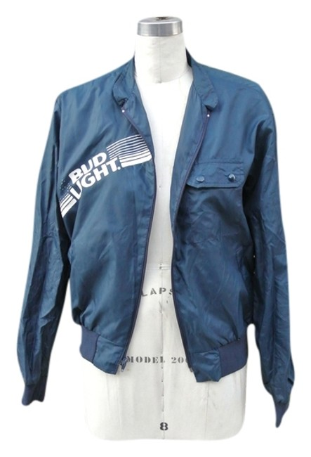 Other Budlight Beer Track Members Only Members Only Blue Jacket