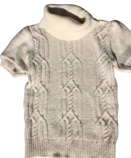 Topshop White Cable Knit Fall Sweater