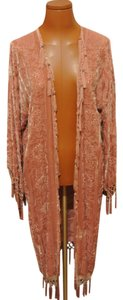 Other Duster Velvet Fringe Stevie Nicks Vintage Duster Fringe Duster Velvet Burnout Cape