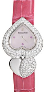 Audemars Piguet Audemars Piguet Ladies Quartz Watch 67428BC.ZZ.A068LZ.01 White Gold Diamonds Pink Crocodile